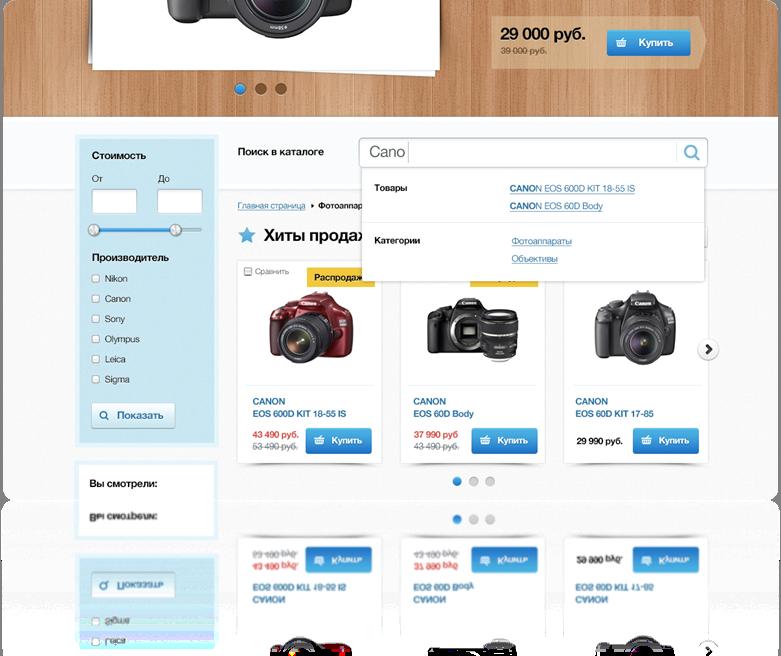 Поиск в каталоге товаров
